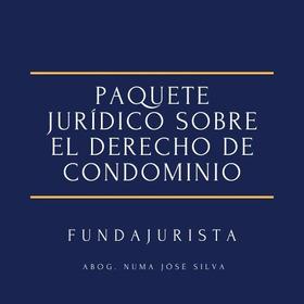 Paquete Jurídico Sobre El Derecho De Condominio