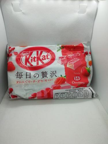 paquete kitkat gourmet japones pie de fresa chocolatory