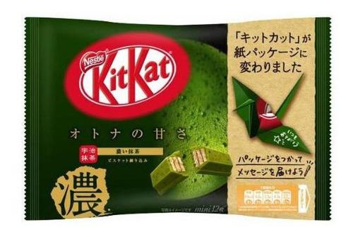paquete kitkat japones de matcha / té verde artesanal
