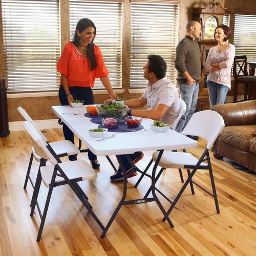 paquete lifetime mesa rectangular 2.44m y 8 sillas plegables