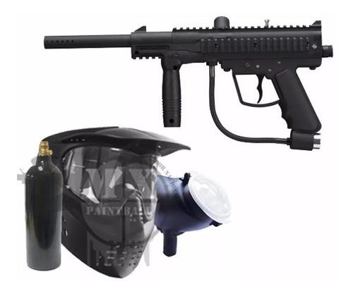 paquete marcadora outkast gotcha pistola paintball