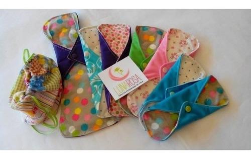 paquete maxi  toallas femeninas ecológicas de tela