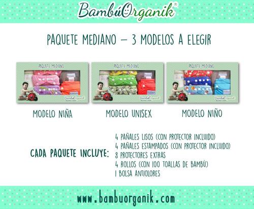 paquete mediano (bambuorganik) pañales de tela ecológicos