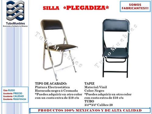 paquete mesa-tablón plegables rectangular con 10 sillas