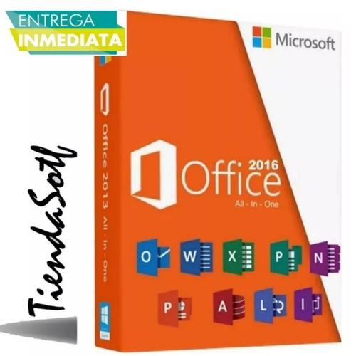 paquete office 2016 con video tutorial de guia