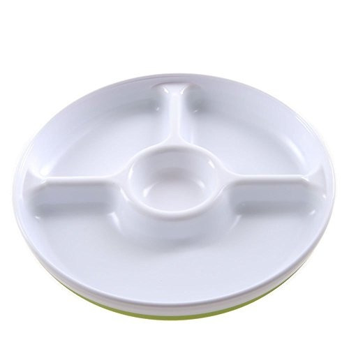 paquete oxo tot divided plate 2 pack verde