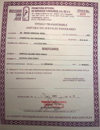 paquete para un  servicios de cremación en guadalajara