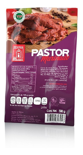 paquete pastor marinado san edmundo 4 pzas