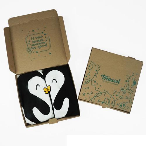paquete playeras pareja pingüinos mi mejor elección tornasol