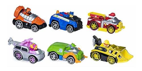 paquete por 6 vehículos  true metal de juguete de paw patrol