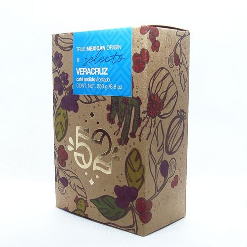 paquete premium café mexicano molido artesanal marca 52