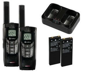 paquete radios cobra 35 millas cxr 925 - con pilas y cargado