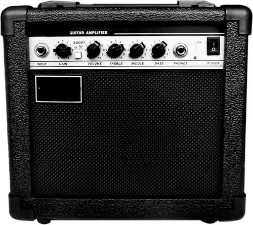 paquete rockstar: guitarra electrica+ amplificador+plumillas