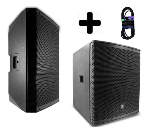 paquete subwoofer y satelite alien amplificado + cable msi !!