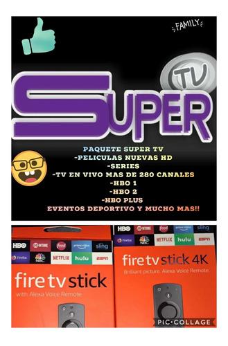 paquete super tv