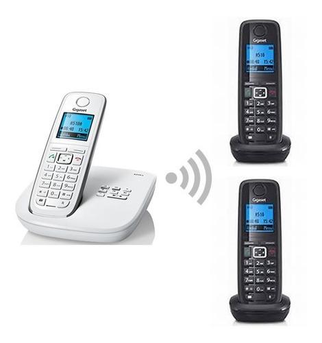 paquete teléfono inalámbrico dect gigaset a510 trio