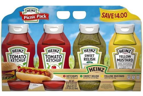 paquete variado de salsas heinz (4 unidades)
