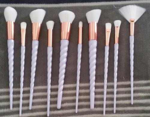 paquete x 10 brochas unicornio cerdas blancas