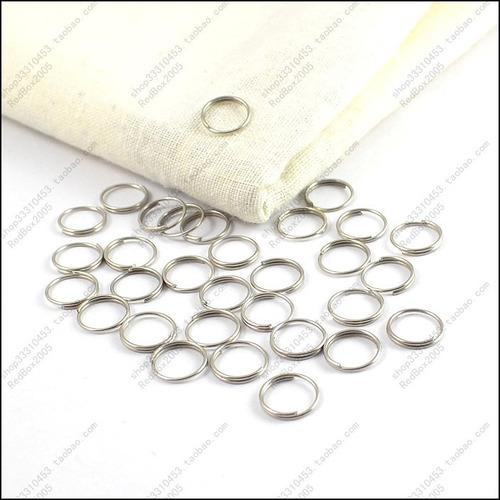 paquete x 200 argollas para llavero 10 mm diámetro externo