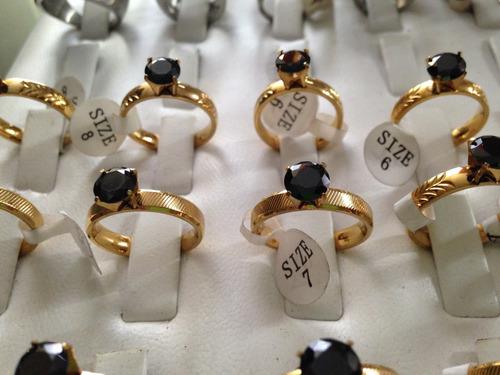 paquete x 5und de anillos solitario