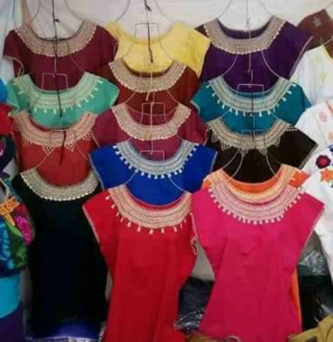 paquete10 blusas artesanales bordadas a mano típicas-chiapas