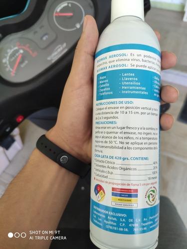 paquete12 desinfectantes en aerosol 100%biodegradable biomax