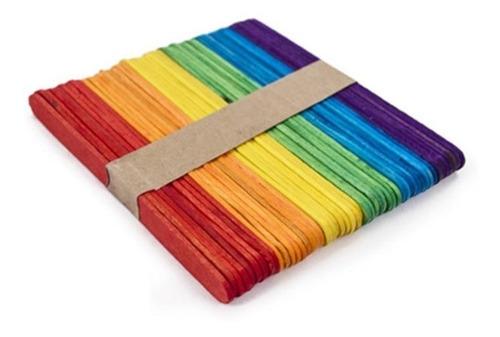 paquetes de 50 palitos de helado de colores