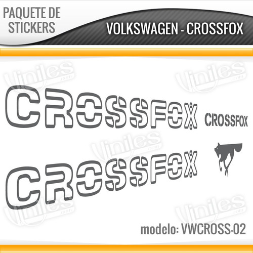 paquetes de calcomanias stickers crossfox, vw, volkswagen