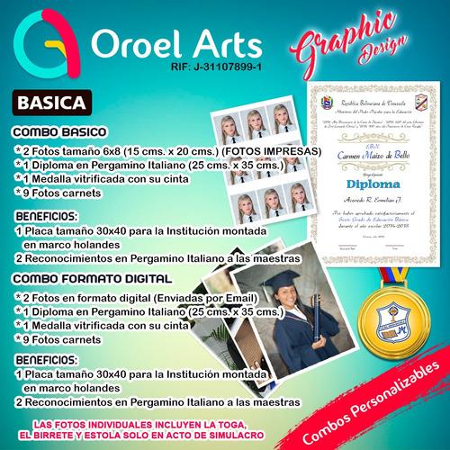 paquetes de grado preescolar sexto bachiller graduaciones
