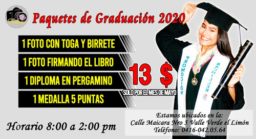 paquetes de graduacion 2020