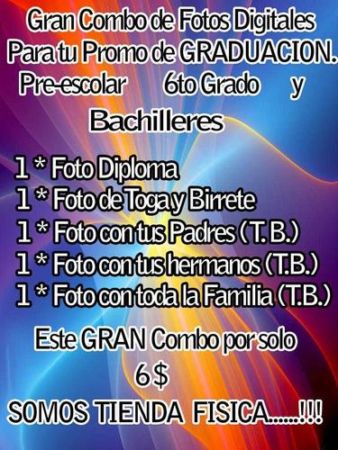 paquetes de graduación: preescolar- 6to grado- bachiller