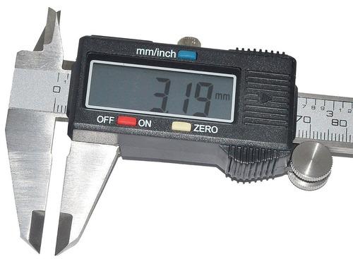 paquímetro digital 150mm profissional c/ ** estojo rígido**