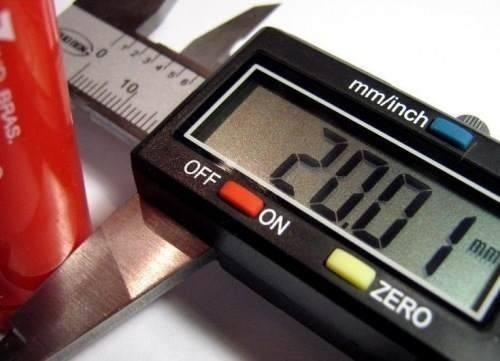 paquímetro digital 150mm/6 + bateria + estojo