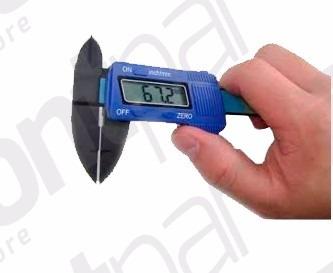paquímetro digital 6 em fibra de carbono 0-150mm