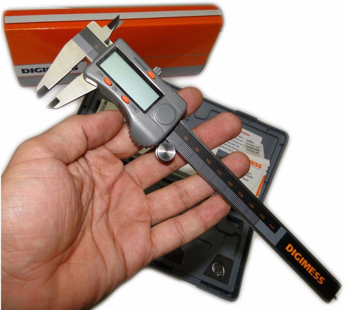 paquímetro digital digimess 200mm 0.01mm - tecnofusi