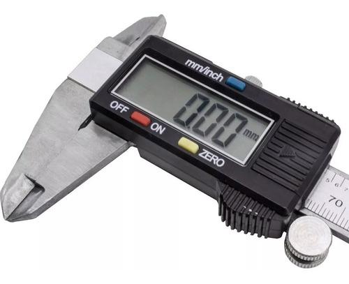 paquímetro digital + estojo original 150 mm mtx