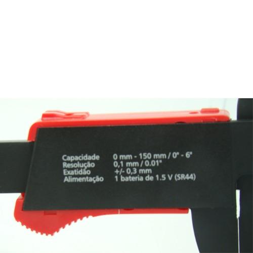 paquímetro digital lcd profissional 150mm fibra de carbono