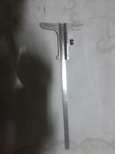 paquimetro etalon suiço antigo aço inox temperado raro
