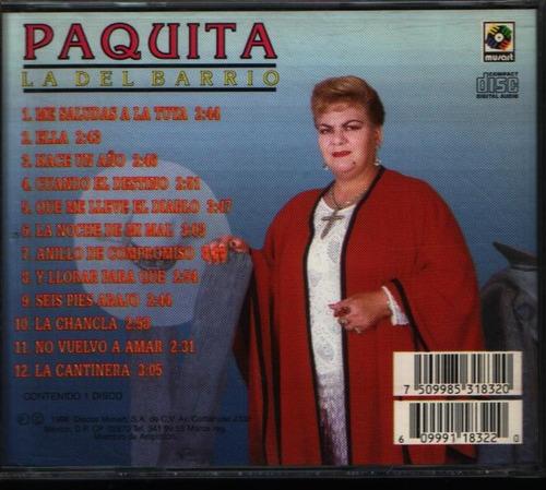 paquita la del barrio con mariachi me saludas a la tuya cd