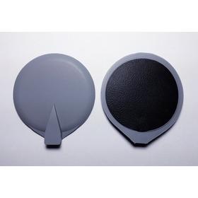 Par(02) Electrodos De Caucho/carbono Redondos 65 Mm Diámetro