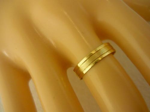 par 2 alianças 6m 18k ouro maciço puro 5 gr