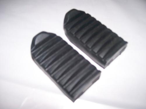 par (2 peças) borracha pedaleira dianteira nxr bros 125 150