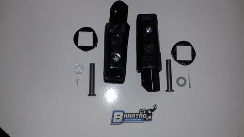 par (2 peças) pedaleira traseira titan 150 sport strada 200