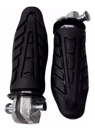 par (2 peças) pedaleira traseira titan fan 160 start twister