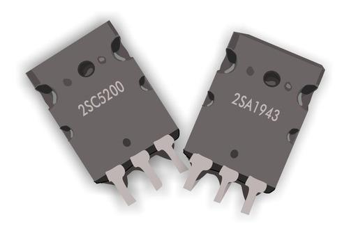 par 2sc5200 + 2sa1943 100% nuevos complementarios to-247