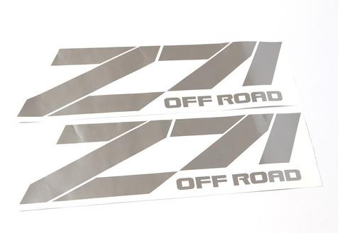 par adesivos z71 off road chevrolet em prata ofrz71c
