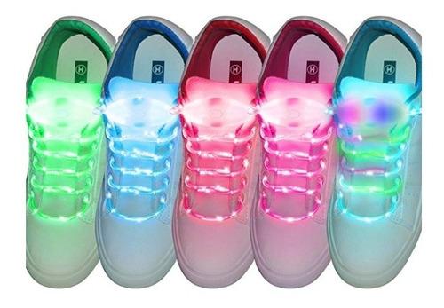 par agujetas led luminosas fiesta colores neón cintas niños