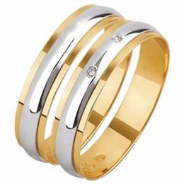 par aliança casamento abaulada c/c elevado ouro18k gf15048