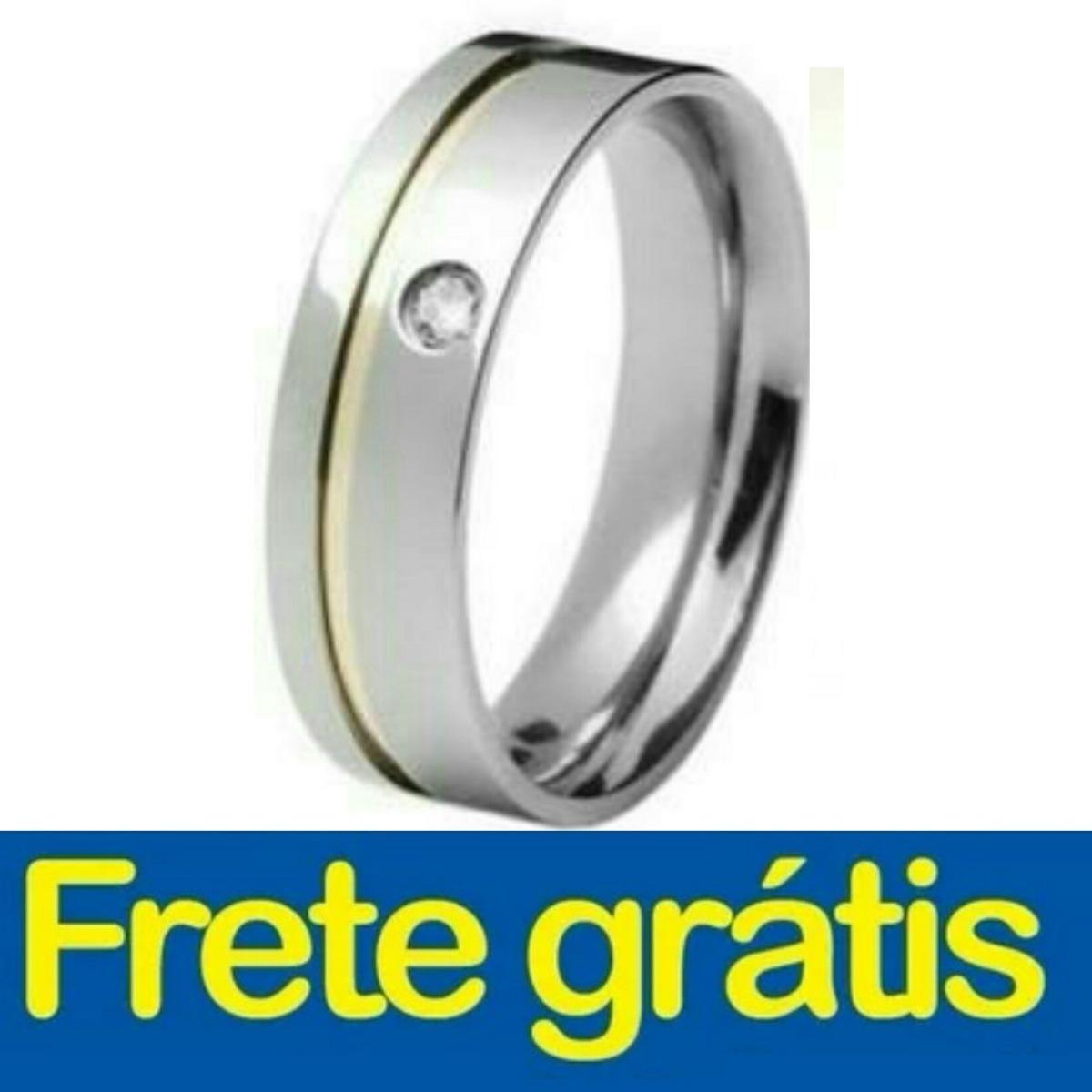 c30bed84341 par alianca namoro anel inox prata compromisso frete grátis. Carregando  zoom.