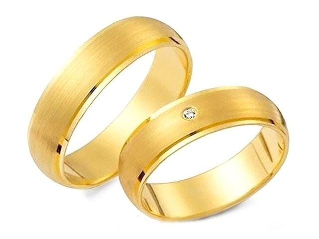 c362093fcf2e7 Par Aliança Ouro 18k 750 Fosca Lateral 6 Gramas 4mm Diamante - R ...